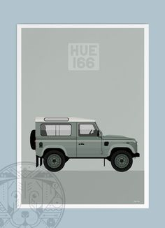 LAND ROVER DEFENDER MEALS ON WHEELS RETRO POSTER PRINT CLASSIC ADVERT A3