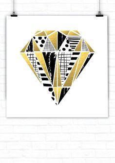 Diamond Art Print Diamond Art, Plate Sets, Home Decor Items, Cool Art, Art Prints, Contemporary, Cool Stuff, Beautiful Things, Attitude