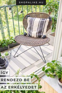 Már nincs sok hátra a télből, a meleg idő beköszöntével pedig nincs is kellemesebb, mint minden szabad percünket a friss levegőn tölteni. Nem akadály, ha tágas kert helyett csak egy kis erkéllyel vagy terasszal rendelkezel, hiszen még a kis terekből is igazi oázist varázsolhatsz. Tippjeink segítségével megtalálhatod a megfelelő bútorokat és kiegészítőket, és könnyedén kialakíthatod álmaid balkonját még a keskeny tereken is. #lakberendezés #terasz #erkély #erkélyberendezése #teraszötletek Outdoor Chairs, Outdoor Furniture Sets, Outdoor Decor, Beautiful, Home Decor, Chairs, Accessories, Narrow Balcony, Balcony House