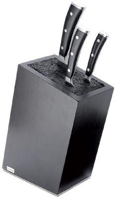 Wüsthof Knife block black (H.Nr. 7278) by cookplanet.com Wusthof Knives, Knife Block, Black, Ideas, Black People, Thoughts