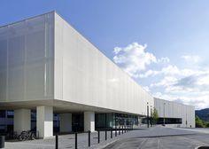 ptfe screen over glass hks | architekten, Fritz-Lipmann-Institut, Jena