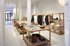 Top to Bottom: All images by La Garçonne Our first brick-and-mortar store has opened at 465 Greenwich Street in TriBeCa, New York City. Featuring emerging and established designers, along with our. Loft, Brick And Mortar, Bath And Beyond Coupon, Shop Front Design, Store Design, Cool Store, Le Far West, Store Fronts, Decoration