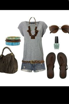 Road trip outfit! love the gray and dreaming of flip flop weather!