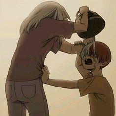 Todoroki's mother burning shoto