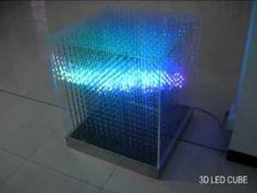 Een 3D Led Kubus gemaakt van 16 x 16 x 16 RGB Leds, Aangestuurd via Arduino
