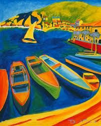 This picture is an example of color because there are just so many colors in this painting that are very attractive.
