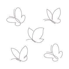 Borboletas Gráficos vetoriais - Baixe imagens grátis Small Cross Tattoos, Cute Tiny Tattoos, Dainty Tattoos, Small Tattoos, Line Art Tattoos, Body Art Tattoos, Tattoo Drawings, Tatoos, Small Butterfly Tattoo