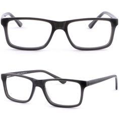 3c23673b45 Square Men Women Plastic Frame Prescription Glasses Spring Hinge Black Dark  Gray  Unbranded Prescription Glasses