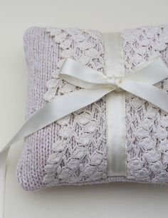 Wedding Ring Bearer Pillow Cream Ivory Sweater by LilliansGarden, $64.00