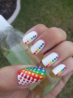 Rainbow Nail Designs 2015 - Fashion Te
