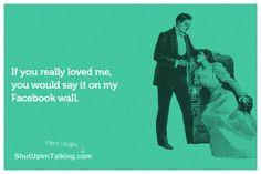 Talk To The Wall! hahaha http://www.ShutUpImTalking.com