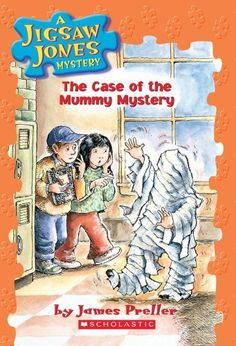 The Case of the Mummy Mystery (Jigsaw Jones Mystery, No. 6) by James Preller et al., http://www.amazon.com/dp/0439080940/ref=cm_sw_r_pi_dp_NFnUtb0TWJNNY