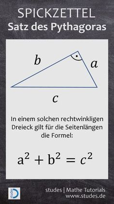 Pythagorean theorem – Education Subject - Famous Last Words Learning For Life, Pythagorean Theorem, Physics And Mathematics, Math Help, Science Biology, Life Science, Learn German, Elementary Science, Algebra