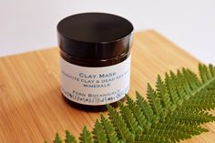 Clay Face Mask, Skin Cleanse, Homemade Face Masks, Combination Skin, Fern, Natural Skin Care, Minerals, My Etsy Shop, Type