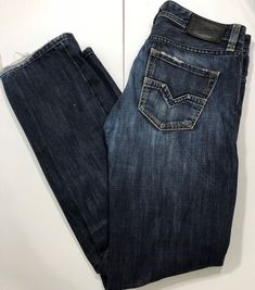 Men's Diesel Jeans Larkee Straight Leg Dark Wash Diesel Jeans, Legs, Dark, Best Deals, Pants, Ebay, Fashion, Trouser Pants, Moda