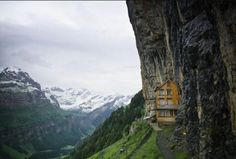Ebenalp, Switzerland - A Restaurant!