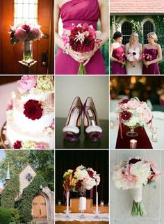 idees-decoration-mariage-accents-pourpre-feurs-chemin-table-robe-demoiselles-honneur