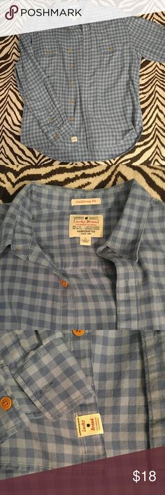 *SALE* Lucky Brand blue ginham button down shirt L Super hot and trendy item in beautiful condition. Perfect for all seasons! Lucky Brand Shirts Casual Button Down Shirts