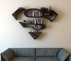 Superman logo bookshelf   Top Creative Works   your first source for creative ideas, designs and works