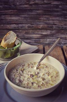 Schnelle Welle Rezept für Hackfleisch Lauch Suppe mit Schmelzkäse