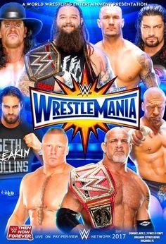 WWE Wrestlemania 2017 Poster by Dinesh-Musiclover on @DeviantArt