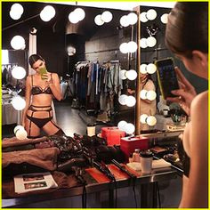 Kendall Jenner Takes Us Behind The Scenes of Lingerie Campaign Shoot