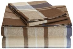 Pinzon 160-Gram Yarn Dyed Flannel Sheet Set, Twin, Brown Plaid, http://www.amazon.com/dp/B00BED4B52/ref=cm_sw_r_pi_awdm_lbt1sb1MMM4EA