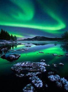 Aurora Borealis, Alaska, USA   I wanna go to Alaska sooooo badd