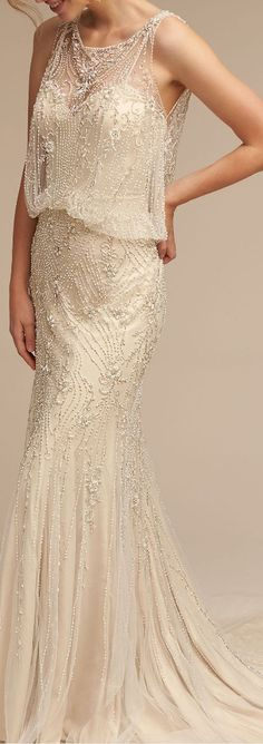 Beautiful 1920's inspired Gatsby gown.