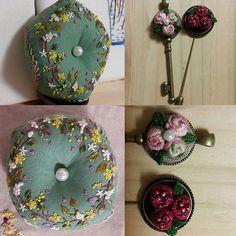 처음만든비스꼬늬랑블리온로즈로목걸이와브로치#프랑스자수 #소품 #취미생활 #미니악세사리 #목걸이#브로치#embroidery #brooch #dailylife #rose