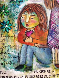 Art Journal Page - Longing for Love