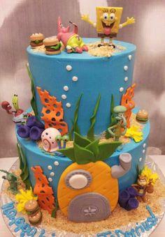 cakes recipes – New Ideas Spongebob Birthday Party, 3rd Birthday Parties, 4th Birthday, Birthday Ideas, Torta Minion, Bolo Neon, Character Cakes, Novelty Cakes, Spongebob Squarepants