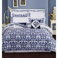Shop for Catalina 12-piece Cotton Percale Bed-in-a-Bag with Deep Pocket Sheet Set. Get free shipping at Overstock.com - Your Online Fashion Bedding Outlet Store! Get 5% in rewards with Club O! - 17801934