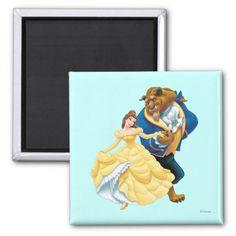 Belle and Beast Fridge Magnets