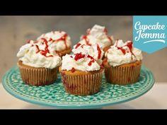 Eton Mess Cupcakes : Vanilla Strawberry Cupcakes with Meringues - Cupcake Jemma
