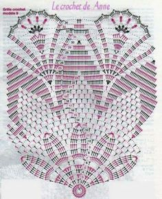 Home Decor Crochet Patterns Part 44 - Beautiful Crochet Patterns and Knitting Patterns Filet Crochet, Mandala Au Crochet, Beau Crochet, Crochet Doily Diagram, Crochet Circles, Crochet Doily Patterns, Crochet Chart, Crochet Home, Thread Crochet
