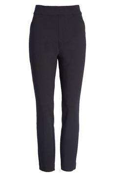 SPANX - black pants Black Pants Outfit, Black Skinny Pants, Black Skinnies, All Black Looks, Ponte Pants, Best Black, Formal Looks, Knit Pants, Spanx