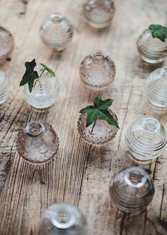 Tiny glass vases