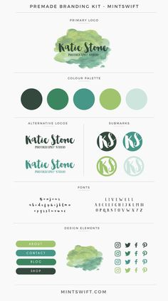 Brand Kits & Mood Boards example for the Elevate Your Biz Emails™️ eCourse by Boosting Your Brand™️ Katie Stone - premade branding & website design kit, personalized with your business name & tagline by a brand & website designer Business Branding, Marketing Branding, Branding Template, Branding Ideas, Marketing Ideas, Business Design, Business Ideas, Web Design, Identity Design