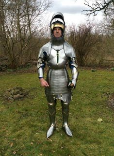English armour currently under construction, circa 1440 by Hvide Horse Armoury