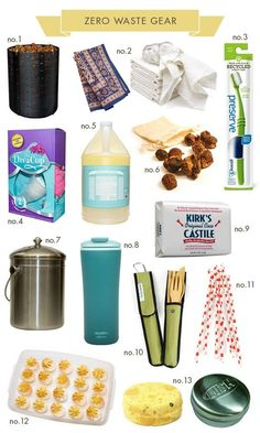 Zero Waste Gear - Hellobee - I'm already doing #1,2, 5, 6, & 8. But, I'd consider the rest!