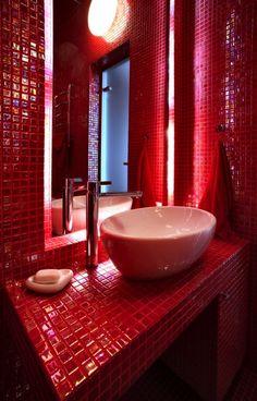 13 meilleures images du tableau Salle de Bains ROUGE   Bathroom ...