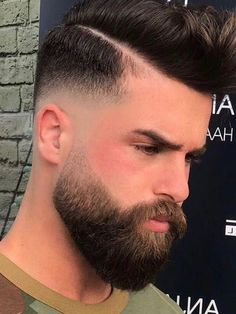69 Ideas haircut for men with beards products for 2019 Trimmed Beard Styles, Faded Beard Styles, Beard Styles For Men, Hair And Beard Styles, Short Hair Styles, Mens Hairstyles With Beard, Haircuts For Men, Men's Hairstyles, Bald Head With Beard