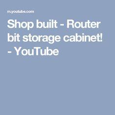 Shop built - Router bit storage cabinet! - YouTube