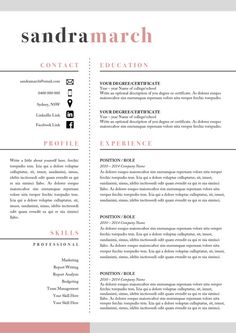 professional resume template 2 page resume 1 by studiomtemplates - What Should A Professional Resume Look Like