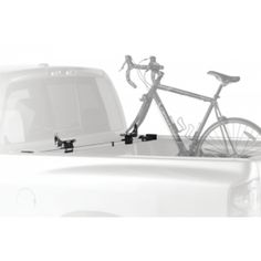 Thule Bed-Rider Fork Mount Carrier Corrosion-resistant aluminum telescoping load bar with integrated fork mounts carries two bikes in the back of a pick Ute Trays, Car Roof Racks, Bed Liner, Bike Mount, Bike Rack, Outdoor Gear, Transportation, Bicycle, Indoor