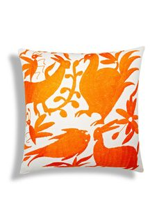 Authentic Mexican Otomi Pillow by Frog Hill Designs on Gilt Home