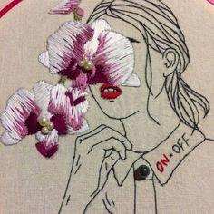 Esse é um trabalho da Camila Belotti, que ministra um workshop de bordado durante o Fio da Meada!