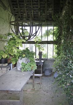 creative space for a potting shed
