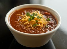 Get the recipe for the Callier's Beef Chili, a spicy version of the owner's mom's recipe.